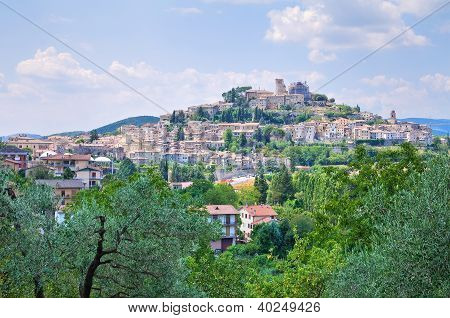 Panoramic view of Amelia. Umbria. Italy.
