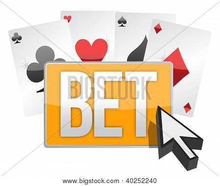 Bet Button And Cursor