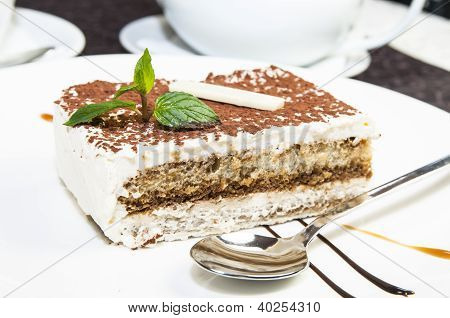 piece of cream cake