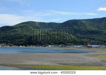 Quebec, The Small Village Of Saint Maxime Du Mont Louis