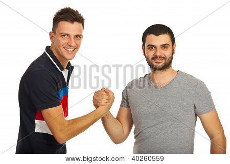 Twee jongens van vrienden Verenigd
