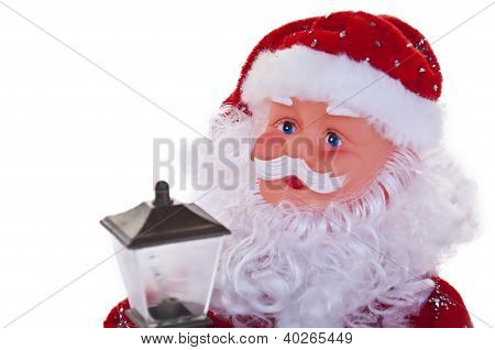 Christmas Santa Clause With Lantern