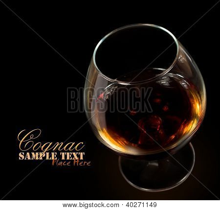Glass Of Cognac Isolated