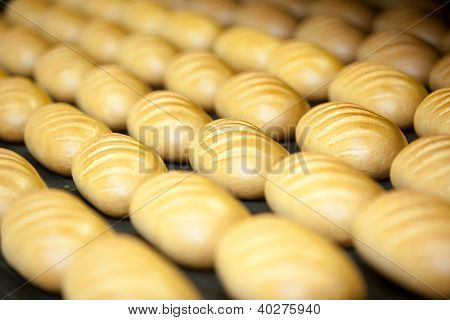 Baked Breads On The Production