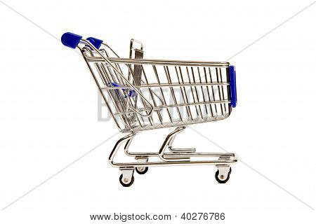 A Side View of a Miniature Shopping Cart XXXL