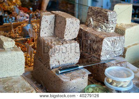 Halva In A Market Stand