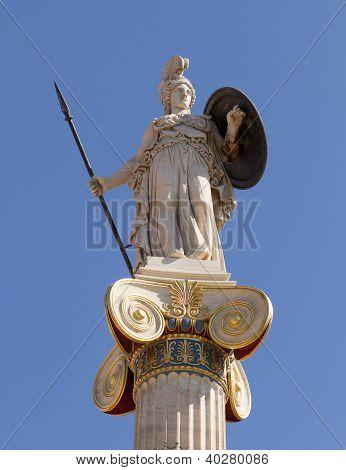 Athena Pallas Statue In Greece