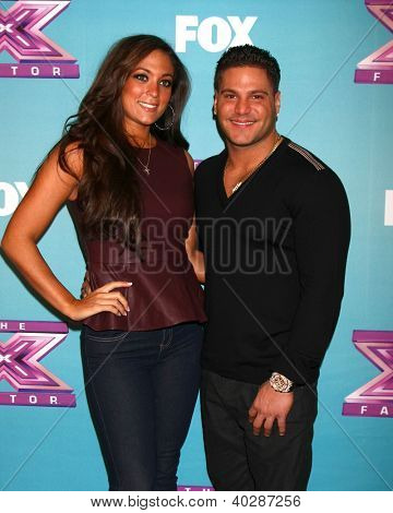 LOS ANGELES - DEC 19:  Sammi 'Sweetheart' Giancola, Ronnie Ortiz-Magro at the 'X Factor' Season Finale performances  show taping at CBS Television City on December 19, 2012 in Los Angeles, CA