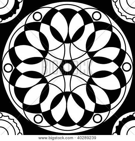 Geometric Mandala Drawing Sacred Circle