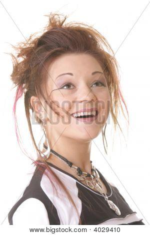 Smiling Punk Girl
