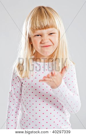 Young Girl With Funny Grin