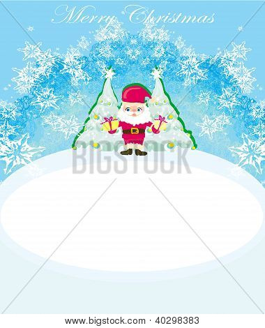Illustration Of Funny Santa Claus