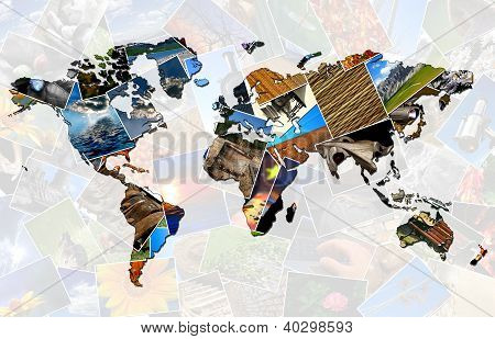 Collage World Map