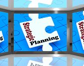 Strategic Planning On Screen Shows Organization