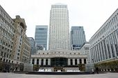 pic of hsbc  - Office tower blocks at Canary Wharf in London - JPG