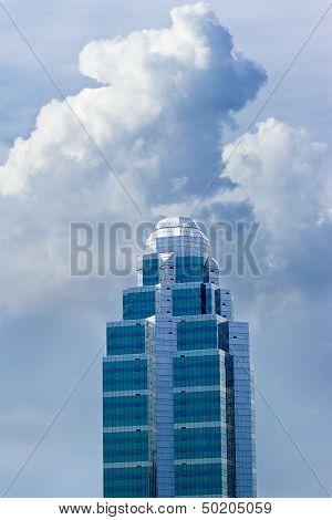 Futuristic straight building