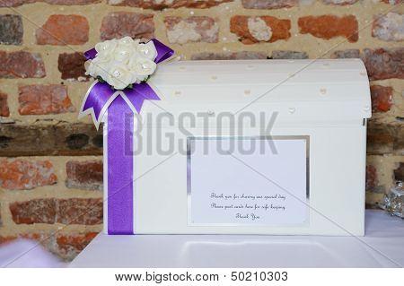 Wedding Reception Card Box