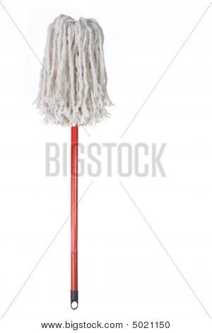 Large Mop Upside Down Isolated On White