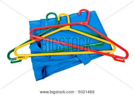 Plastic Clotheshangers With Clothes