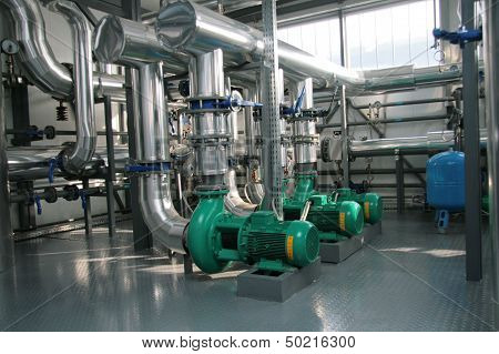 Group Of Powerful Pump