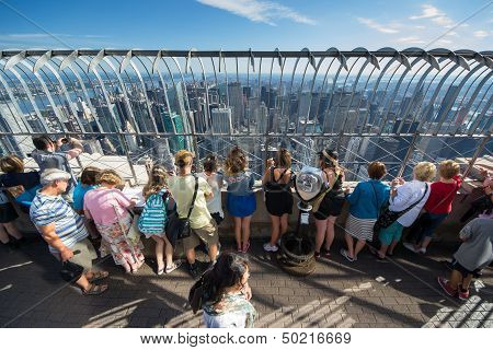 People On The Empire State Building