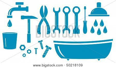 isolated objects for plumbing work