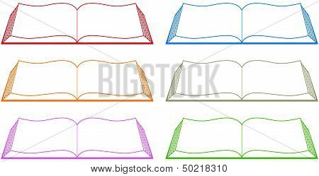 set colorful book