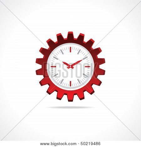 Gear clock icon