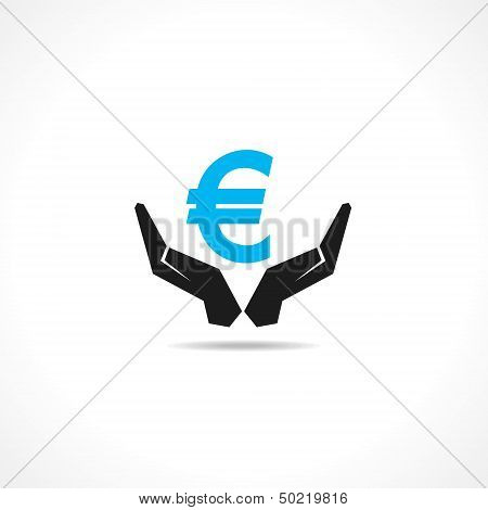 save money concept with euro symbol