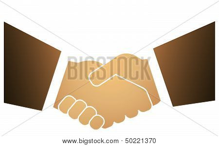 male handshake isolated