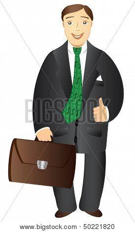 isolated cartoon businessman