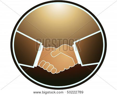 handshake in round and light