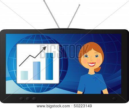 good stock news and a beautiful TV presenter