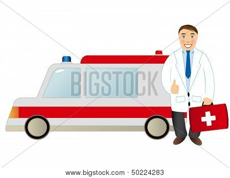 doctor and ambulance
