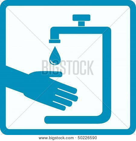 symbol of hygiene with hand