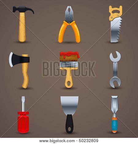 Vector illustration of icon tools