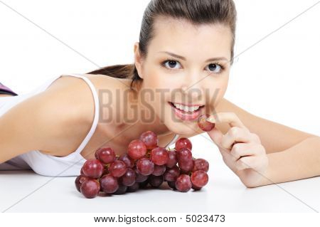 Girl Eating Grape