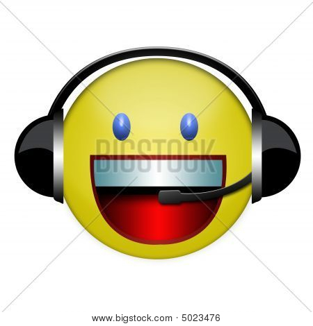 Headphone Sign Smile