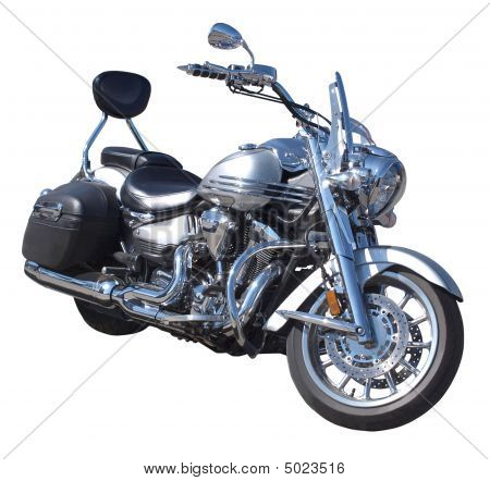 Motorcycle  With Chrome Details
