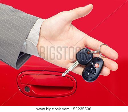 Car keys. Auto dealership concept.