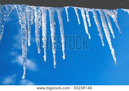 Icicles Glint In The Sun