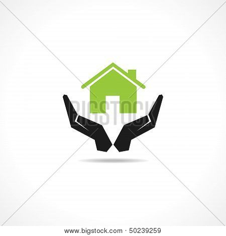 secure home concept stock vector
