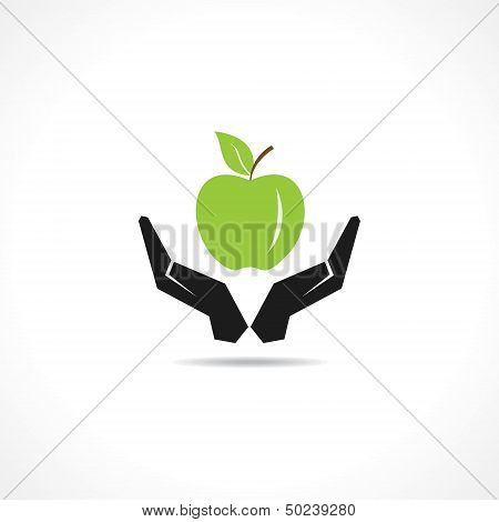 save healthy food concept stock vector