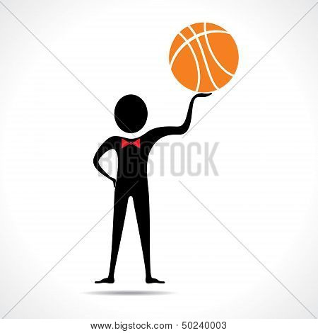 Man holding a basketball