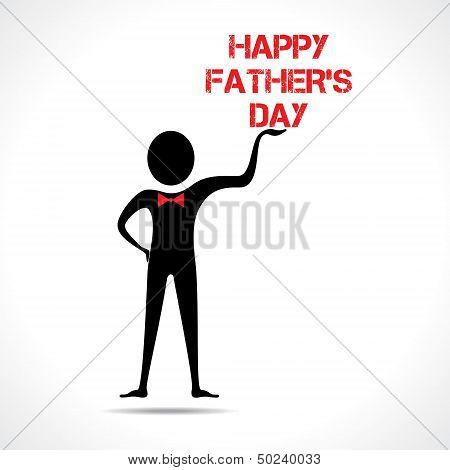 Man holding happy gather's day text stock vector