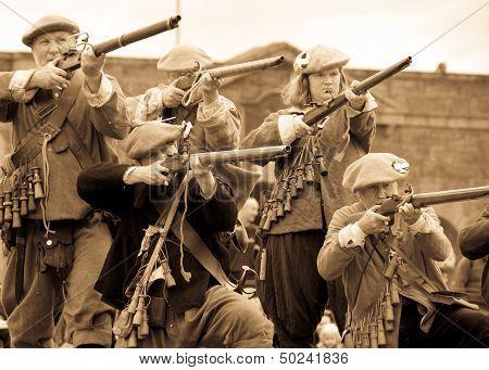 Historic gun battle