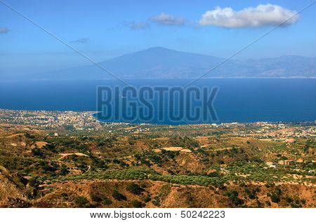View On Etna From Aspromonte
