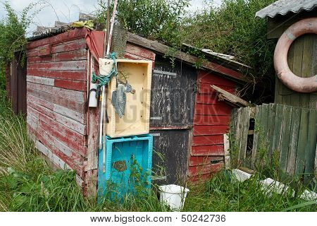 Rustic Wooden Old Fishing Shed