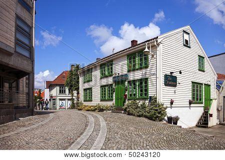 Charming Street In Stavanger