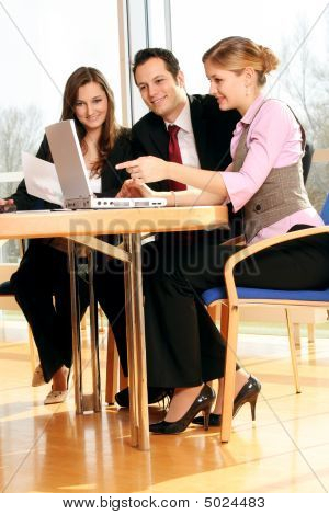 Business Team Is Working
